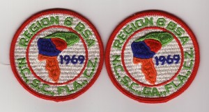 1969 National Jamboree Region 6 Patches